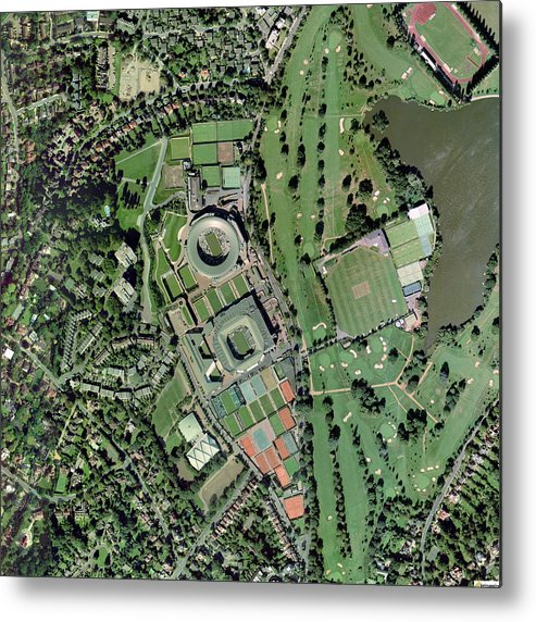Wimbledon Metal Print featuring the photograph Wimbledon Tennis Complex, Uk by Getmapping Plc