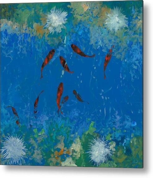 Koi fish metal prints and koi fish metal art for sale for Koi prints for sale