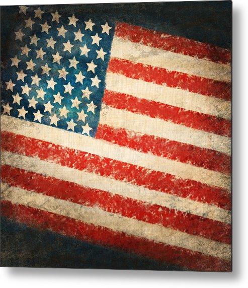 4th Metal Print featuring the painting America Flag by Setsiri Silapasuwanchai