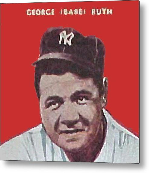 Babe Ruth Metal Print featuring the painting Babe Ruth by Paul Van Scott