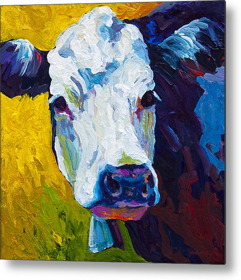 Cows Metal Print featuring the painting Belle by Marion Rose