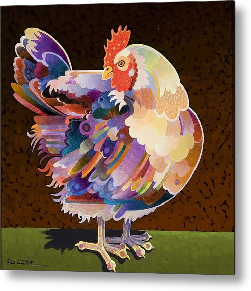 Chicken Metal Print featuring the painting Chicken From Jamestown by Bob Coonts