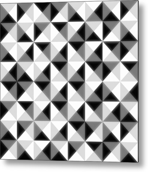 Abstract Metal Print featuring the digital art Count The Squares by Ron Brown