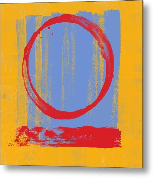 Red Metal Print featuring the painting Enso by Julie Niemela