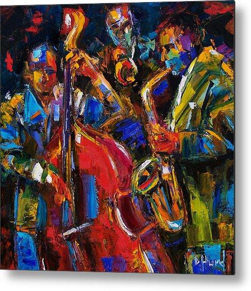 Jazz Metal Print featuring the painting Jazz by Debra Hurd