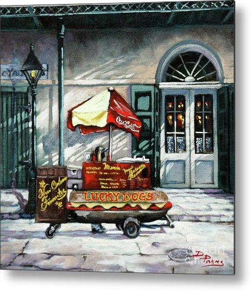 Lucky Dogs Metal Print featuring the painting Lucky Dogs by Dianne Parks