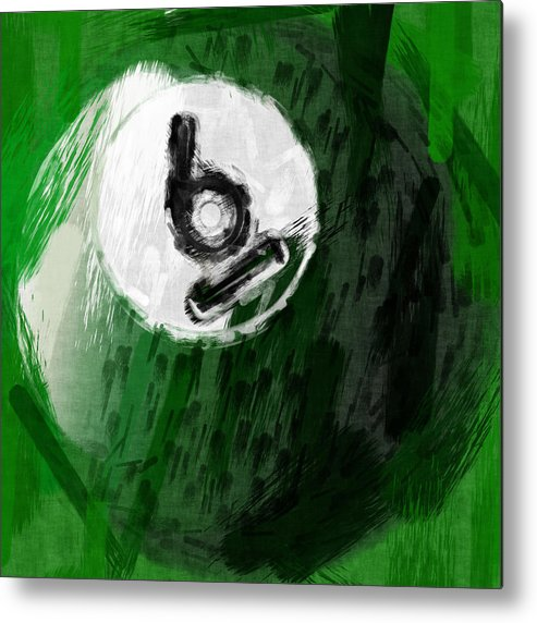 Six Metal Print featuring the photograph Number Six Billiards Ball Abstract by David G Paul