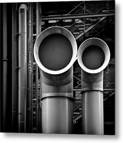 Industry Metal Print featuring the photograph Pipes by Dave Bowman