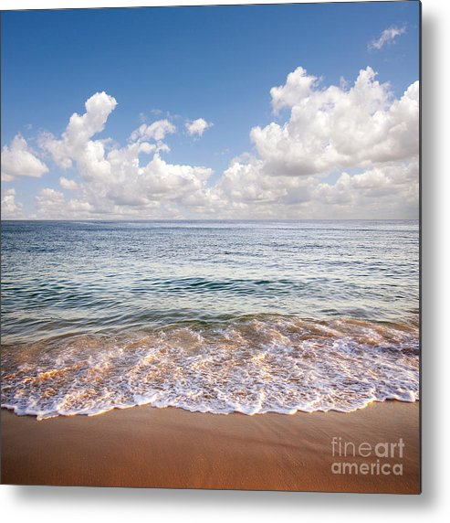 Background Metal Print featuring the photograph Seascape by Carlos Caetano