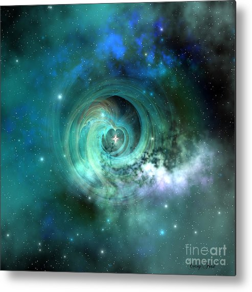 Universe 3d Metal Print featuring the painting Stellar Matter by Corey Ford