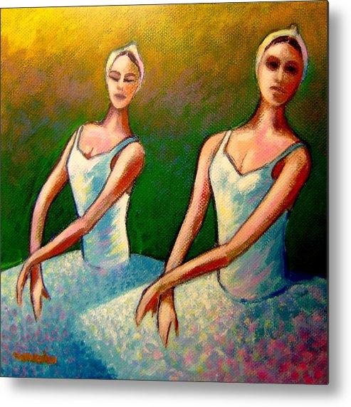 Swan Lake Ballet Metal Print featuring the painting Swan Lake I by John Nolan