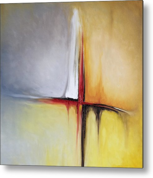 Abstract Metal Print featuring the painting Untitled by Mike Irwin