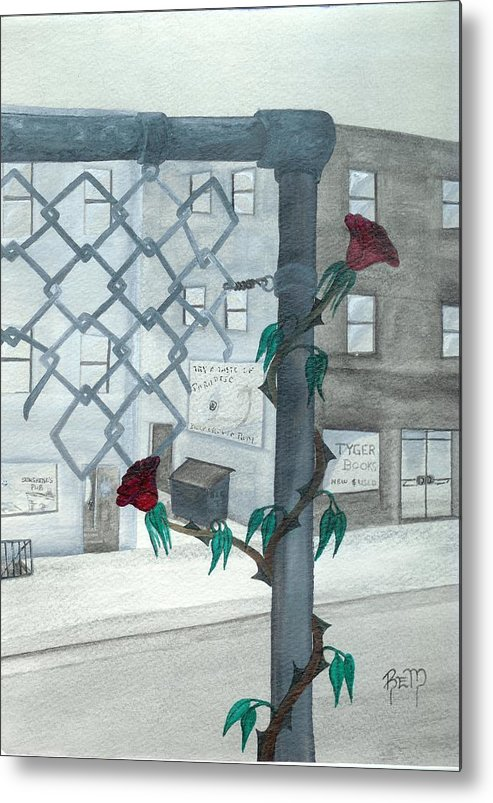 Watercolor Metal Print featuring the painting Finding Beauty by Robert Meszaros