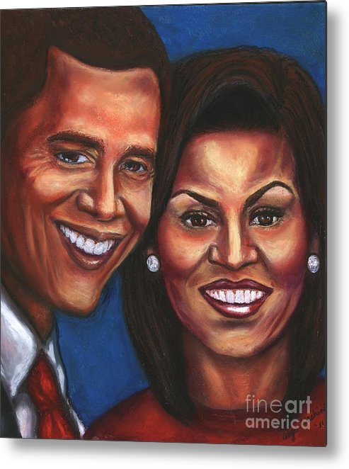 First Couple Metal Print featuring the mixed media A Dream Came True by Alga Washington