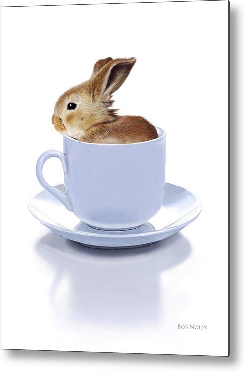 Bunny Metal Print featuring the digital art Morning Bunny by Bob Nolin