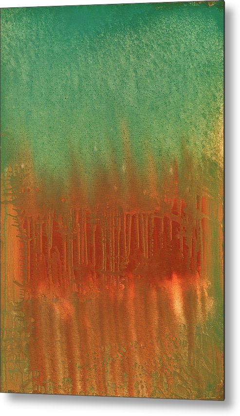Orange Metal Print featuring the painting Offering by Jigme Namgyel