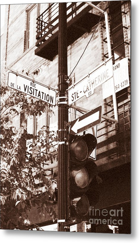 Montreal Metal Print featuring the photograph Rue Visitation by John Rizzuto