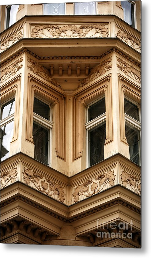 Angled Windows Metal Print featuring the photograph Angled Windows by John Rizzuto