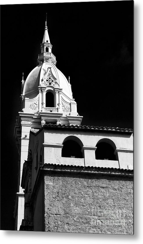 Cathedral In Cartagena Metal Print featuring the photograph Cathedral In Cartagena by John Rizzuto