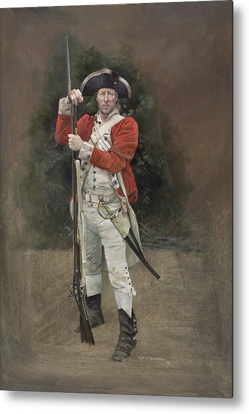 Redcoat Metal Print featuring the painting British Infantryman C.1777 by Chris Collingwood
