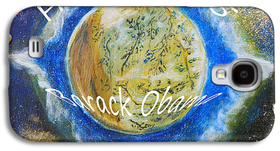 Barack Obama Galaxy S4 Case featuring the painting Barack Obama Star by Augusta Stylianou