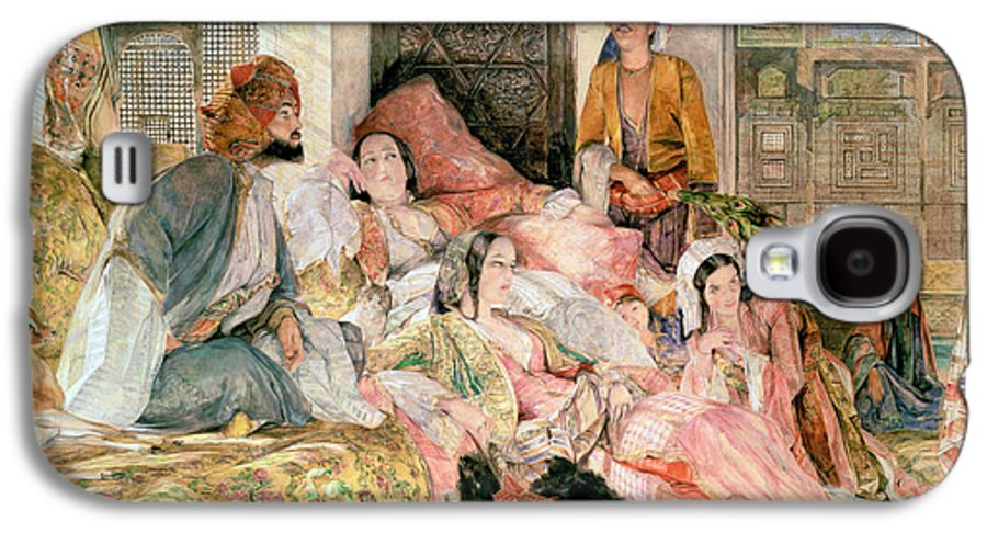 Oriental Galaxy S4 Case featuring the painting The Harem by John Frederick Lewis
