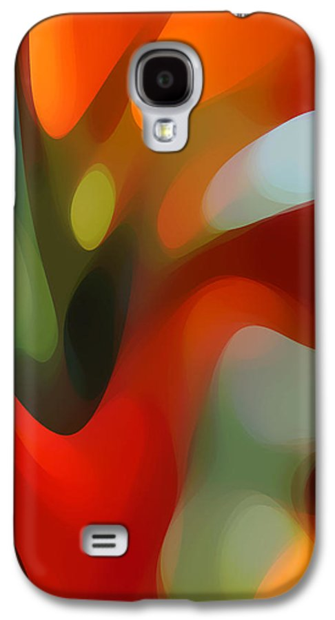 Abstract Galaxy S4 Case featuring the painting Tree Light 2 by Amy Vangsgard