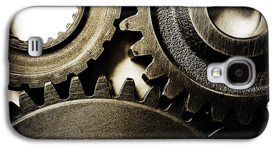 Gearing Galaxy S4 Case featuring the photograph Cogs by Les Cunliffe