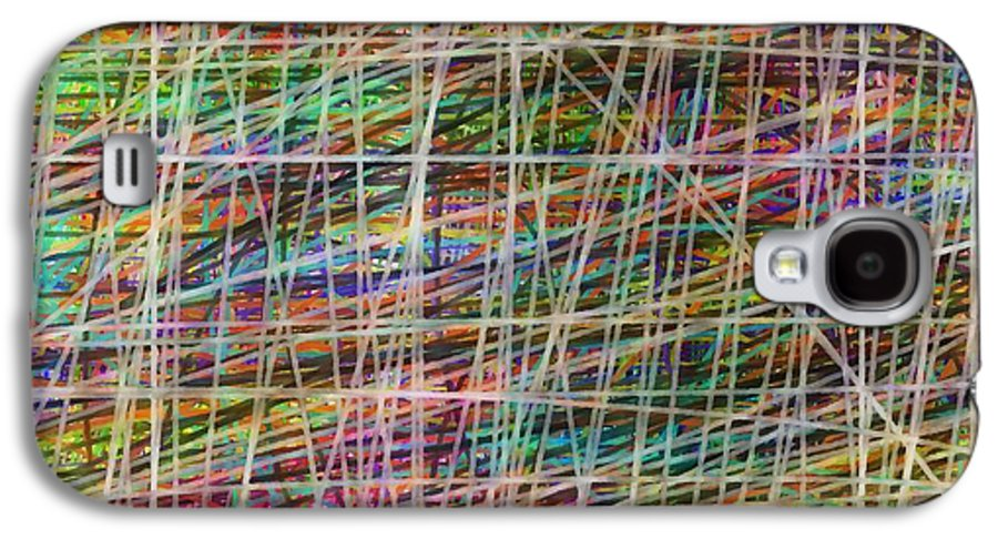 Abstract Galaxy S4 Case featuring the painting Schreien by Sir Josef - Social Critic - ART