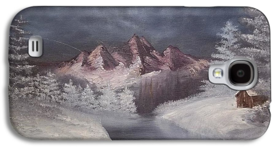 Mountains Galaxy S4 Case featuring the painting 1st Painting 2-27-1991 by Rhonda Lee