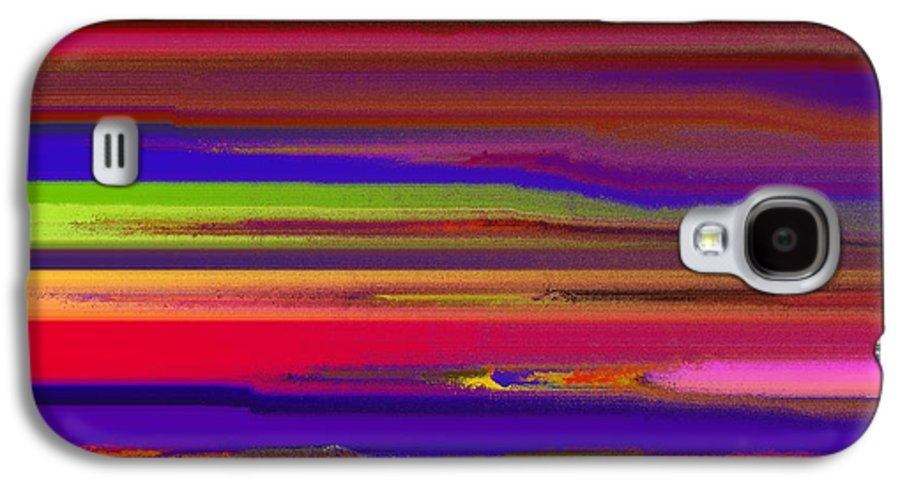 Abstract Galaxy S4 Case featuring the painting Schreien by Sir Josef Social Critic - ART