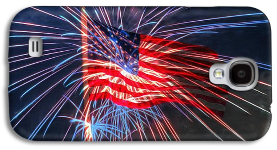 4th Galaxy S4 Case featuring the digital art 4th Of July by Heidi Smith