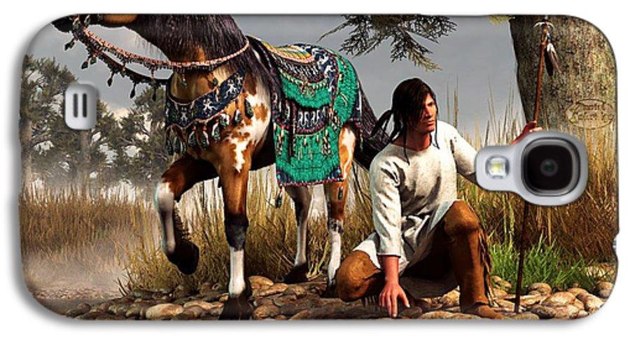 Galaxy S4 Case featuring the digital art A Hunter And His Horse by Daniel Eskridge