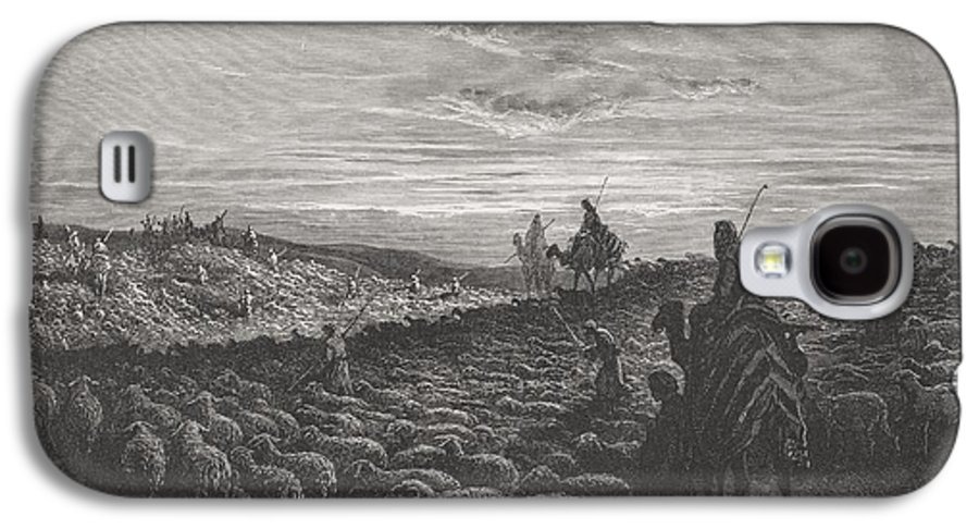 Herding Galaxy S4 Case featuring the painting Abraham Journeying Into The Land Of Canaan by Gustave Dore