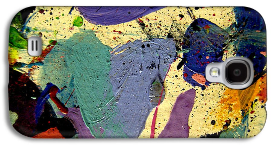 Abstract Galaxy S4 Case featuring the painting Abstract 11 by John Nolan