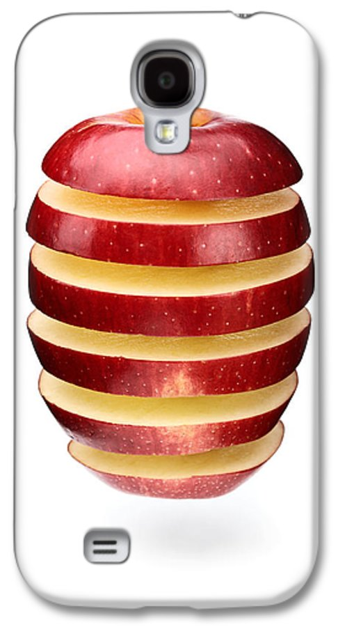 Apple Galaxy S4 Case featuring the photograph Abstract Apple Slices by Johan Swanepoel