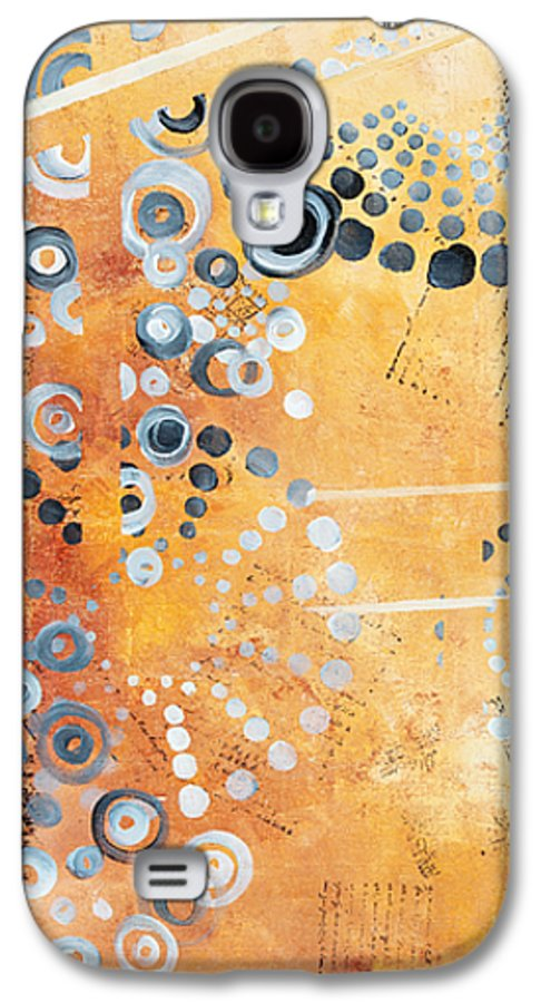 Art Galaxy S4 Case featuring the painting Abstract Decorative Art Original Circles Trendy Painting By Madart Studios by Megan Duncanson