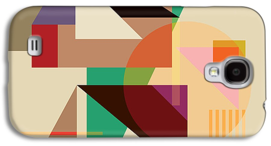 Logo Galaxy S4 Case featuring the digital art Abstract Shapes #4 by Gary Grayson