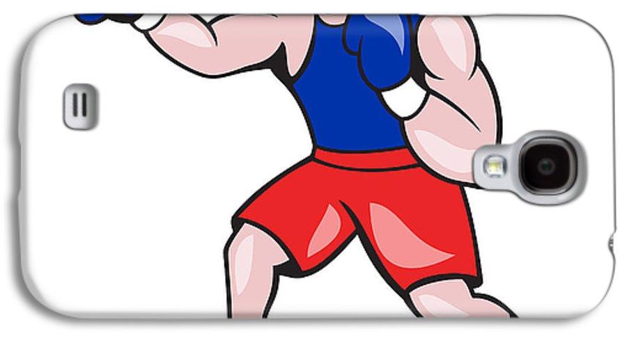 Amateur Galaxy S4 Case featuring the digital art Amateur Boxer Boxing Cartoon by Aloysius Patrimonio