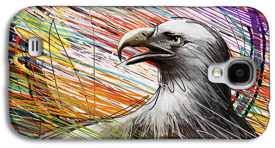 Eagle Galaxy S4 Case featuring the digital art American Eagle by Bedros Awak
