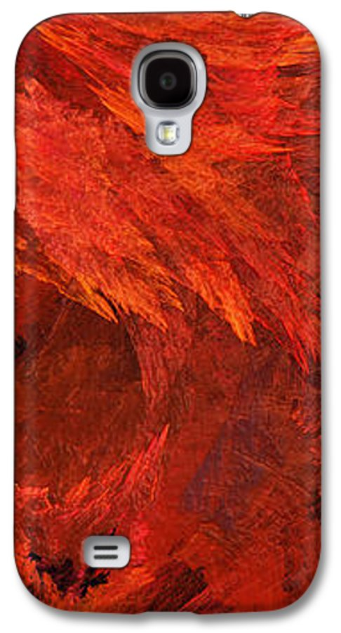 Abstract Galaxy S4 Case featuring the digital art Autumn Fire Pano 2 Vertical by Andee Design