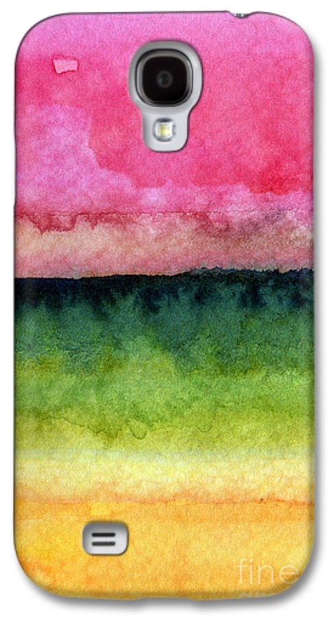 Abstract Landscape Galaxy S4 Case featuring the painting Awakened by Linda Woods