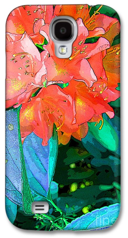 Orange Flower Galaxy S4 Case featuring the photograph Azealia by Laura Sapko