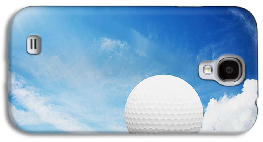Golf Galaxy S4 Case featuring the photograph Ball On Tee On Green Golf Field by Michal Bednarek