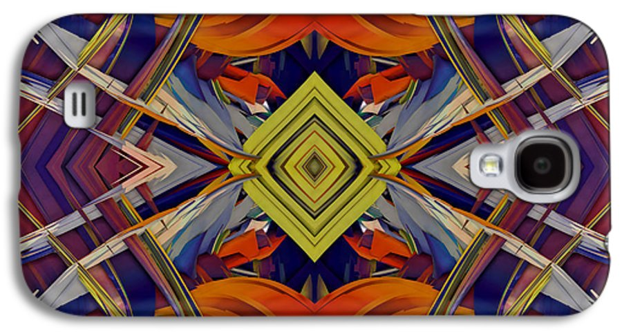 Abstract Galaxy S4 Case featuring the digital art Boldness Of Color by Deborah Benoit