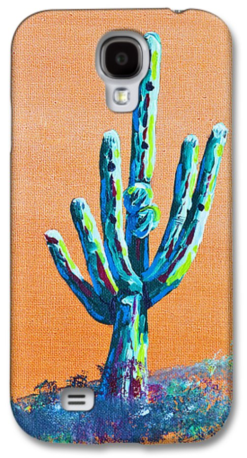 Art - Paintings Etc Galaxy S4 Case featuring the painting Bright Cactus by Greg Wells