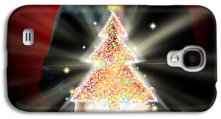 Business Galaxy S4 Case featuring the mixed media Businessman With Christmas by Atiketta Sangasaeng