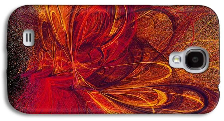 Abstract Butterfly Prints Galaxy S4 Case featuring the digital art Butterfire by Sharon Lisa Clarke