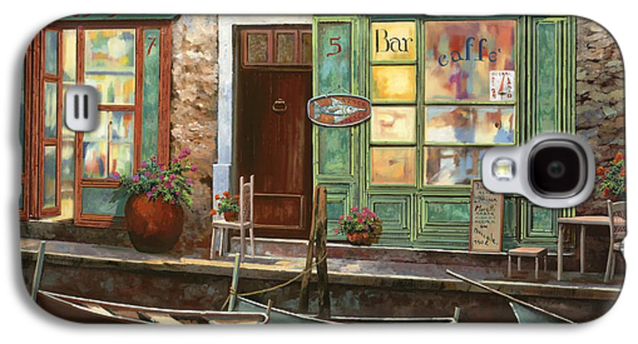 Venice Galaxy S4 Case featuring the painting caffe Carlotta by Guido Borelli