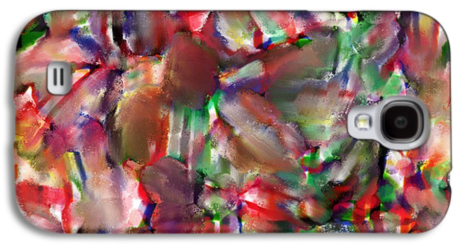 Abstract Galaxy S4 Case featuring the painting Caught In The Crowd Water Color And Pastel by Sir Josef Social Critic - ART